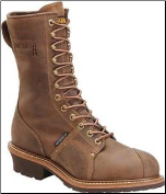 "Carolina Men's 10"" Professional Waterproof Lineman Boot - Brown CA904 (SKU: CA904)"