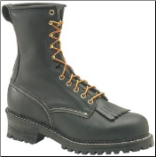 Carolina Men's Domestic 9'' Plain Toe Logger Boots - Black 922 (SKU: 922)