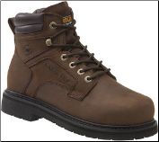 Carolina Men's 6'' Broad Toe Internal Metguard Steel Toe Work Boots - Brown CA9599