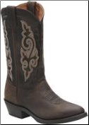 Double H Men's Work Western-Medium Brown DH3255
