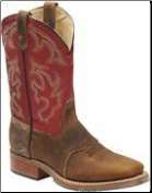 Double H Men's Work Western-Wide Square Work Roper Old Town  Light Brown/Red DH3556