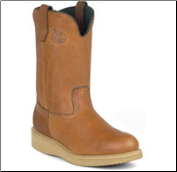 "Georgia Steel Toe Men's 12"" Wellington Barracuda Gold Wedge G5353"