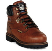 "Georgia Men's 6"" Safety Toe Internal Metatarsal Comfort Core Welt - Greasy Briar G6315"
