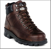 Georgia Men's Wide Load Safety Toe Lace-to-Toe Eagle Light Boots - Dark Brown Soggy G6395 (SKU: G6395)