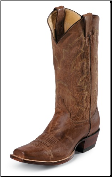Justin Men's Punchy Western Collection - 13'' Tan Distressed Vintage Goat 2680