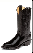 "Justin Men's 11"" Western Boots - Black Melo-Veal 3040"