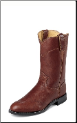 Justin Men's Exotic Ropers - 10'' Chestnut Marbled Deerlite Boots 3163 (SKU: 3163)
