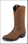 Justin Men's Basics - 12'' Crazy Cow Boots JB1100 (SKU: JB1100)