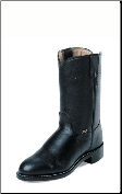 Justin Men's Basics - 10'' Black Cow Boots JB3000 (SKU: JB3000)