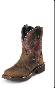 Justin Women's Gypsy Collection - 8'' Aged Bark Boots with Steel Toe WKL9980 (SKU: WKL9980)