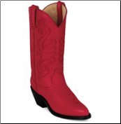 Durango Women's Leather Western Boots - RED - RD4105 (SKU: RD4105)