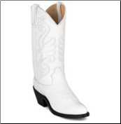 Durango Women's Leather Western Boots - White RD4111 (SKU: RD4111)
