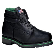 Thorogood Men's Work One Green Stripe 6'' Sport Boots - Safety Toe - Black 804-6711 (SKU: 804-6711)