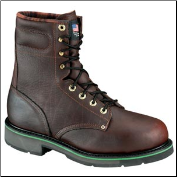 Thorogood Men's Work One Green Stripe 8'' Sport Boots - Safety Toe - Brown 804-4721