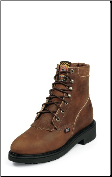 "Justin Women's USA Made 6"" Steel-Toe Workboots: Women's Aged Bark L0774 (SKU: L0774)"