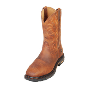 Ariat Men's Workhog Wide Square Toe Boots - Distressed Toast 10007044 (SKU: 10007044)