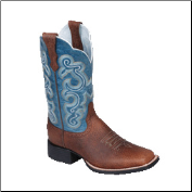 Ariat Women's Quickdraw Western Boots - BrownOiled/Sapphire 10004720