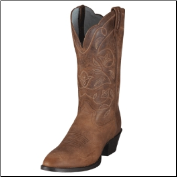 Ariat Women's Heritage Western R Toe Boot -Russet 10001015 (SKU: 10001015)