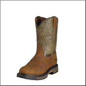 "Ariat Men's Workhog Pull-on 10""-Aged Bark/Army Green 10001188"