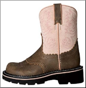 Ariat Kid's Fatbaby Western Boots - Brown Bomber / Pink 10001995 (SKU: 10001995)