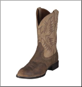 Ariat Men's Heritage Stockman Western Boot-Tumbled Brown/Beige 10002247