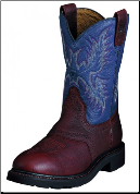 "Ariat Men's ATS Work Steel Toe Sierra Saddle 10"" - Redwood/Blue Indigo 10002438 (SKU: 10002438)"
