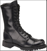 "Corcoran Men's 10"" Side-Zipper Field Boot with Lug Outsole-Black Leather 985"