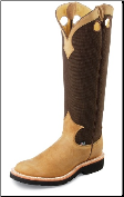 "Justin Men's 17"" 'Traction' Snake Boots - Dune 2113"