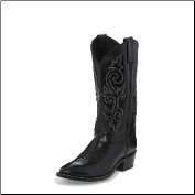 Justin Men's Western Black London Calf Boots 1409 (SKU: 1409)