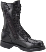 "Corcoran Men's 10"" Side-Zipper Jump Boot with Light Weight Outsole - Black Leather XC1585"