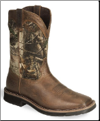 Justin Men's Rugged Tan Cowhide Waterproof Work Boot WK4676 (SKU: WK4676)