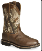 Justin Men's Rugged Tan Cowhide Waterproof Work Boot WK4675 (SKU: WK4675)