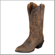 Ariat Women's Heritage R-Toe Western Boots - Distressed Brown 10001021