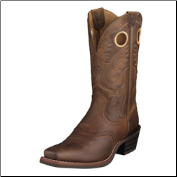 Ariat Men's Heritage Roughstock Square Toe- Brown Oiled Rowdy 10002227 (SKU: 10002227)