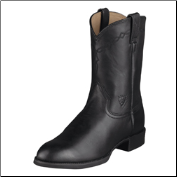 Ariat Men's Heritage Roper Western Boots - Black 10002280
