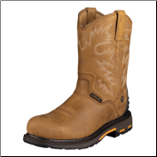 "Ariat Men's Workhog Rt Pull-On Waterproof Composite Toe 10""- Rugged Bark 10004889"