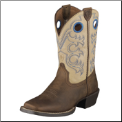Ariat Youth Crossfire Kids-Distressed Brown/Cream 10005993
