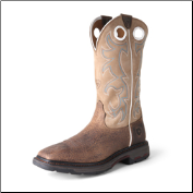 Ariat Men's Workhog Wide Square Toe-Earth/Beige 10008204