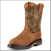 Ariat Men's Workhog Pull-On H2O Composite Toe-Aged Bark/Army Green 10008635