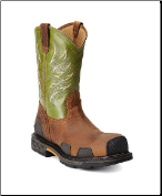 Ariat Men's Overdrive Wide Square Toe - Toast/Lime CT 10011921 (SKU: 10011921)