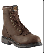 "Ariat Men's Workhog 8"" H2O - Oily Distressed Brown 10011939"