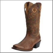 Ariat Men's Sport Square Toe Boots - Fiddle Brown 10014025 (SKU: 10014025)