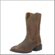 Ariat Men's Heritage Roper Wide SQ Toe Western Boots - Powder Brown 10015288