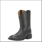 Ariat Men's Heritage Roper Wide SQ Toe Boots - Black Deertan 10015291