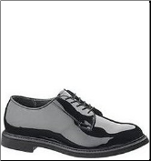 Bates Men's High Gloss Durashocks Oxford-Black E01301