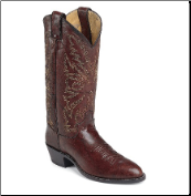 Justin Men's Marbled Deerlite Vamp Western Boots - Dark Brown 1564