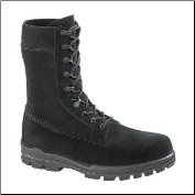 "Bates Women's 9"" US Navy Suede DuraShocks Steel Toe Boot-Black - E01778 (SKU: E01778)"