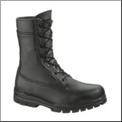 "Bates Women's 9"" US Navy Durashocks Steel Toe-Black - E01788"