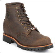 "Chippewa Men's 6"" Chocolate Apache Lace-Up 20080"
