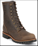 "Chippewa Men's 8"" Chocolate Apache Lace Up Steel Toe Logger Boot  20086 (SKU: 20086)"